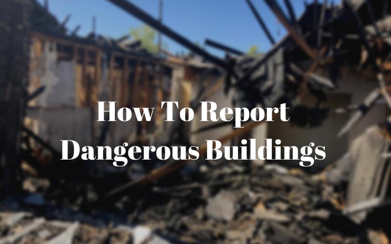 image for Report Dangerous Buildings