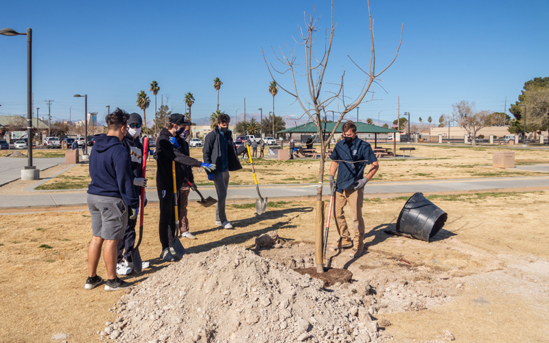 Ward 4 & Get Outdoors Nevada Park Cleanup & Tree Planting