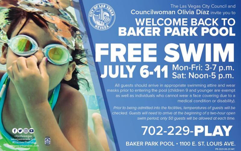image for Free Swim At Baker Pool