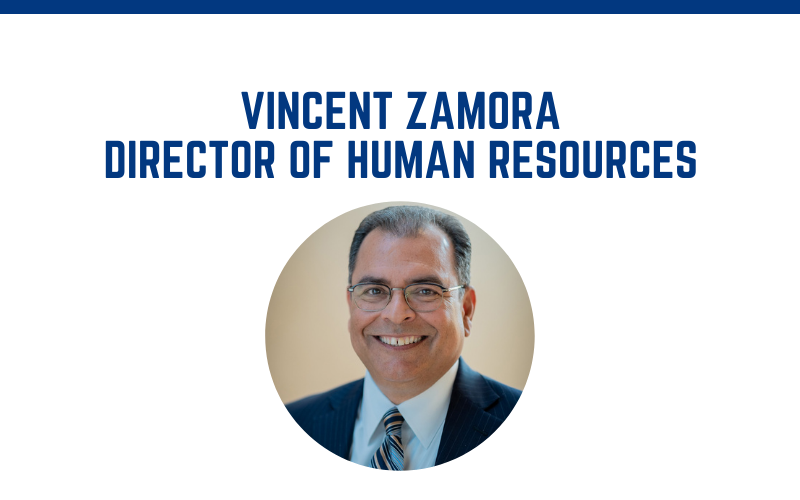 image for Vince Zamora Named New Human Resources Director