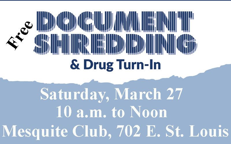 Ward 3 Free Document Shredding & Medication Disposal