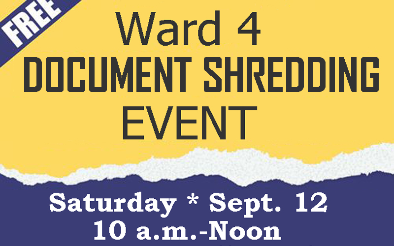 Ward 4 Free Shredding Event & Prescription Drug Disposal