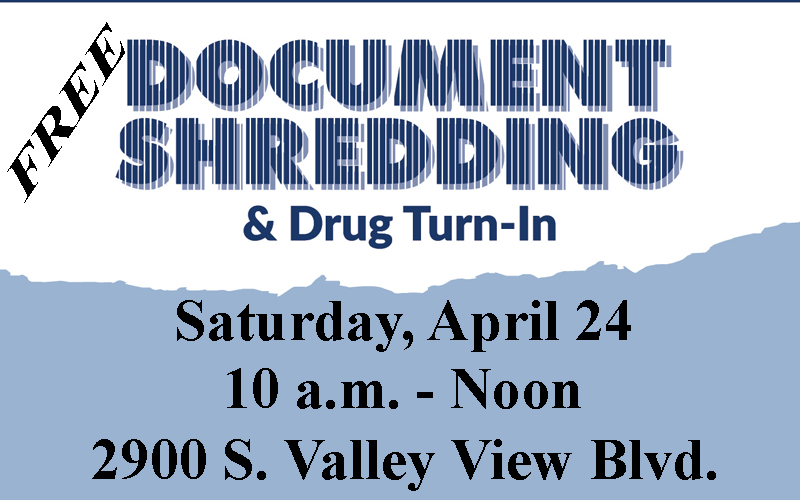 Ward 1 Free Shredding & Medication Disposal Event