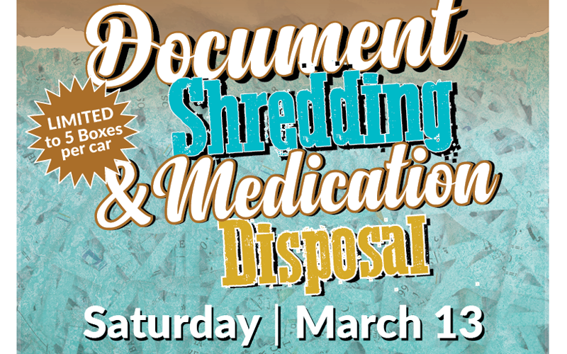 Ward 2 Free Document Shredding & Medication Disposal
