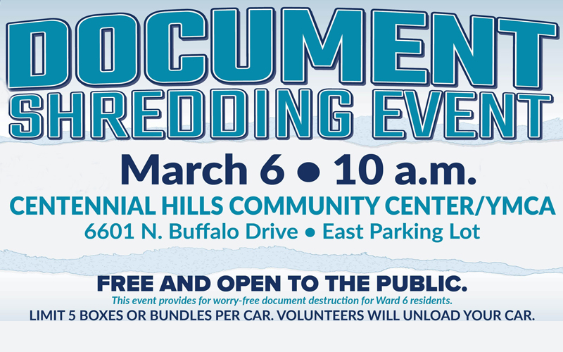 Ward 6 Free Document Shredding Event